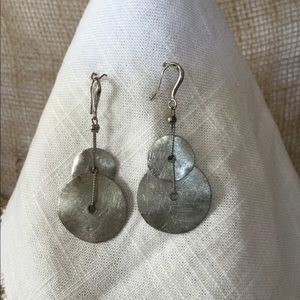 Silver Double Saucer Earrings